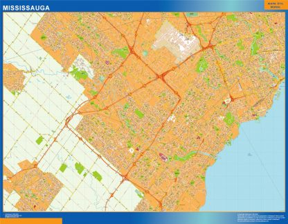 mississauga vector map
