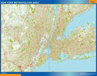 new york metropolitan vector map
