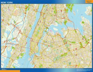 new york vector map