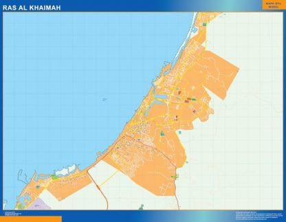 ras al khaimah vector map
