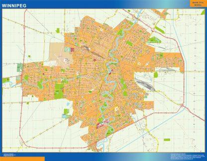 winnipeg vector map