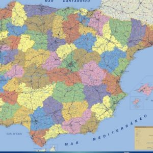 cropped wall map spain 1
