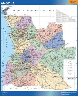 wall map angola