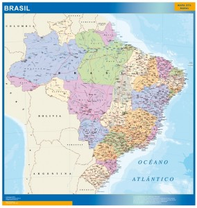 wall map brazil