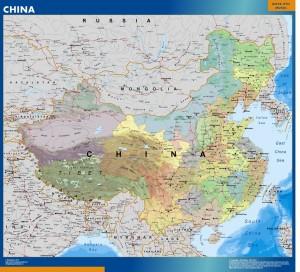 wall map china
