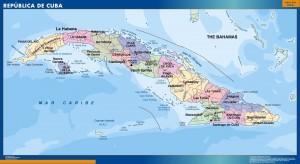 wall map cuba