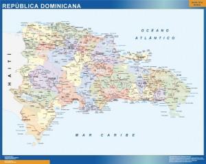 wall map dominican republic