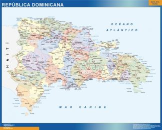 wall map dominican republic
