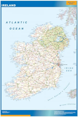 wall map ireland