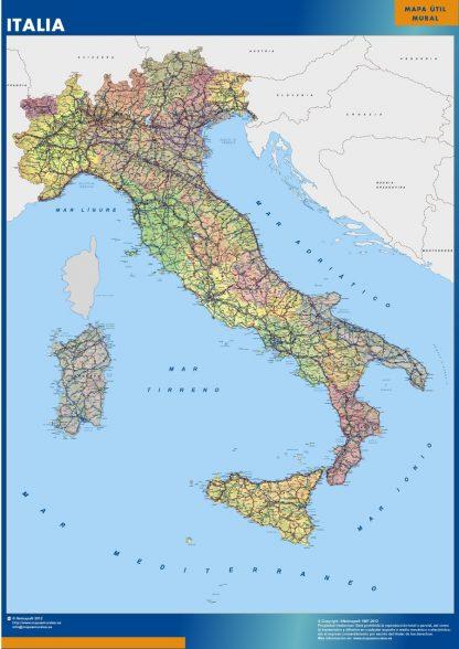 wall map italy