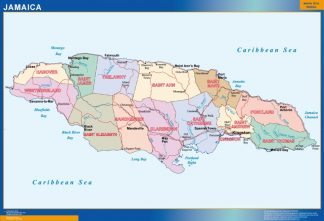 wall map jamaica