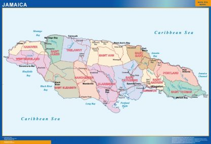 wall map jamaica