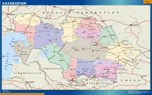 wall map kazakhstan