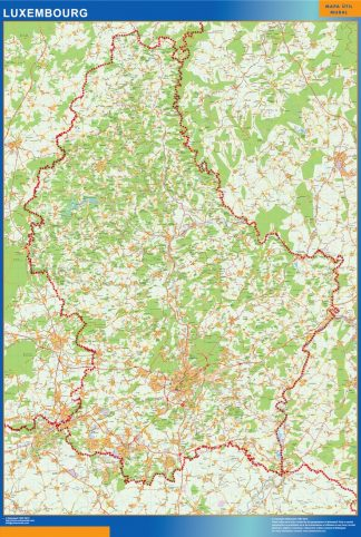 wall map luxembourg