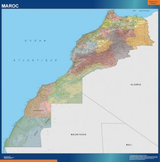 wall map morocco