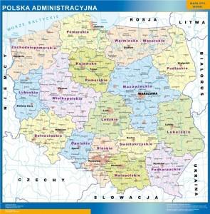 wall map poland