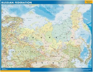 wall map russia