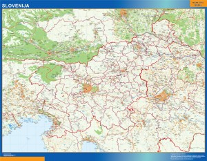 wall map slovenia