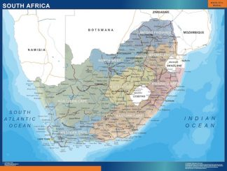 wall map south africa