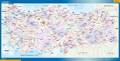 wall map turkey