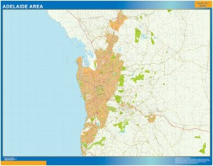 Adelaide Area wall map