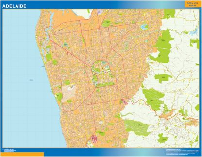 Adelaide wall map