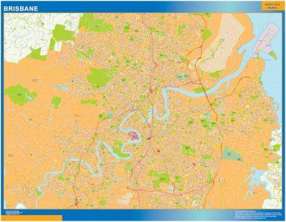 Brisbane wall map