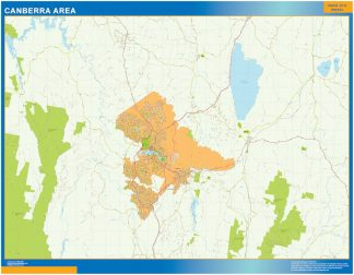 Canberra Area wall map