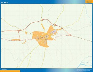 Elvas mapa