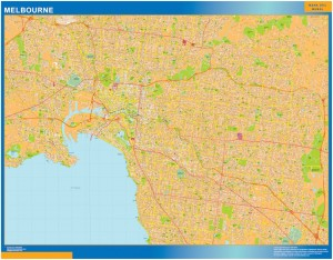 Melbourne wall map