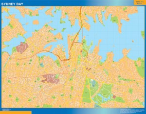 Sydney Bay wall map