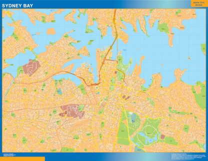Sydney Bay wall map