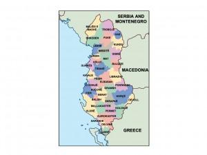 albania presentation map