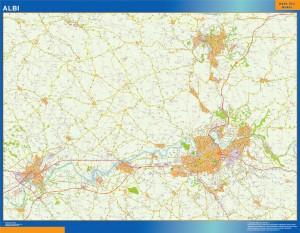 albi wall map