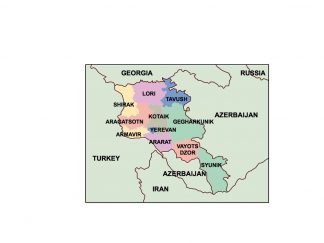 armenia presentation map