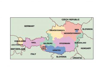 austria presentation map