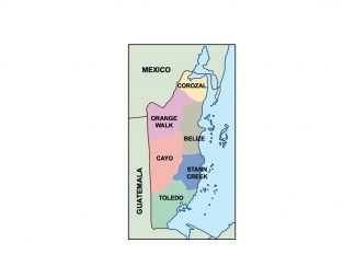belize presentation map
