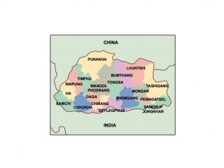 bhutan presentation map