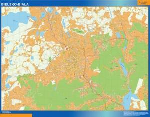 bielsko biala Wall Map