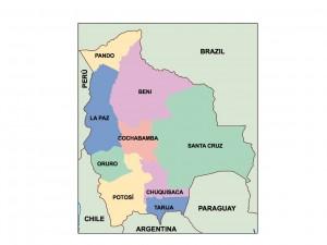 bolivia presentation map
