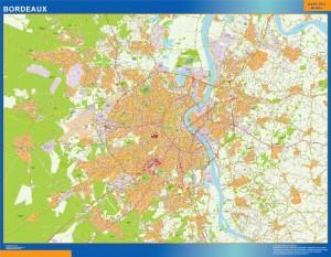 bordeaux wall map