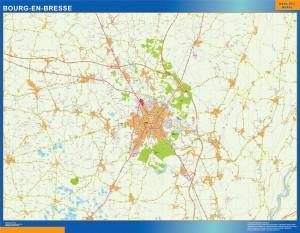 bourg en bresse wall map