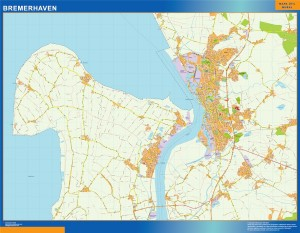 bremerhaven wall map