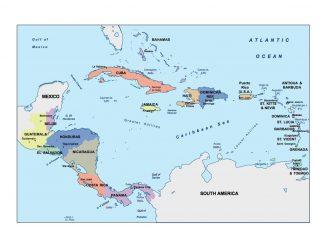 central america presentation map
