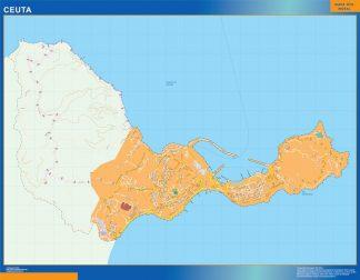 ceuta wall map