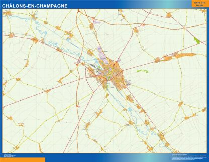 chalons en champagne wall map