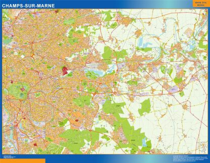 champs sur marne wall map