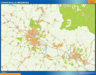 charleville mezieres wall map