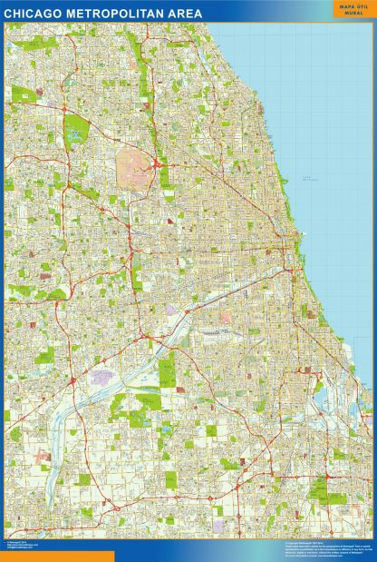 chicago wall map