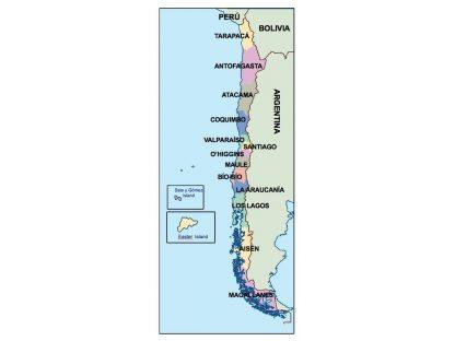 chile presentation map